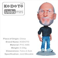 Wholesale Articles Fashion - Kodoto Famous Science Human Steve Jobs Doll 7cm*3cm Smallest Collcections Office Articles Christmas Scarf with Toy