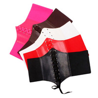e98657501a3e8 Spandex Leather Corset Online Shopping - Wholesale- Sexy Women PU Leather Body  Shaper Lace Up