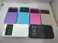 Wholesale S3 Mini Phone Cases - Phone Bag Skin Stand PU Leather Case For Samsung Galaxy S3 mini I8190   S4 mini I9190   S5 mini G800   Galaxy Win I8550
