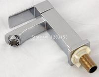 Wholesale Basin Mixer Faucet Accessories - Wholesale- high quality zinc square basin faucet bathroom accessories SINGEL FUNTION MIXER water tap