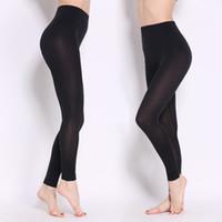kadınlar için zarif siyah pantolon toptan satış-2016 Yeni Rahat Kadınlar Bahar Sonbahar Seksi Pamuk Pantolon Elastik Ince Zarif Ince Siyah Renk Kalem Tayt