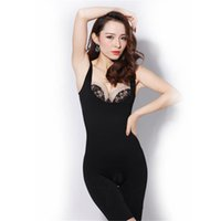 Wholesale Full Body Shaper Suit - Wholesale-Seamless Full Body Shape Waist Under bust Cincher Suit Control Firm Tummy Body Shaper Weight Loss 19