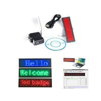 Wholesale Card Clubs - LED scrolling name badge club programmable card Mini display rechargable led name card tag advertising display board