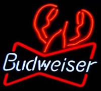 ücretsiz bira neon tabelaları toptan satış-Budweiser Istakoz Neon Burcu El Işi Özel Gerçek Cam Tüp Mağaza Bira Bar KTV Kulübü Reklam Ekran Neon İşaretler Ücretsiz Tasarım 17