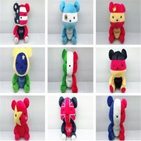 Wholesale Country Doll Wholesale - New various countries national flag pattern Stuffed toys new style Toy doll personality Plush bear toys IA741