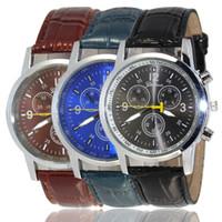Wholesale Stitch Pins - Factory Direct 4 Color Men's Belt in Geneva Watches Ms eye six stitches Fashion Movement Quartz Watch