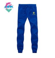 Wholesale field pants - s-5xl free shipping New fashion men's casual pants pants jogging pink dolphin for track and field running