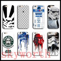Wholesale Star Mobile Case - STAR WARS CASE FOR IPHONE 6 6S Plus 6plus MOBILE PHONE BACK COVER CASE R2D2 STAR WARS COFFEE STORMTROOPERS