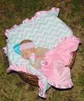 Wholesale Girls Flower Bedding - 85styles Baby INS chevron minky blankets infant shower swaddle flower leopard print Nursery Bedding boys girls gold dot owl blankets