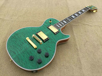 Wholesale Green Bird Guitar - A New Brand electric guitar PL see thru green with maple fingerboard bird eye flame!