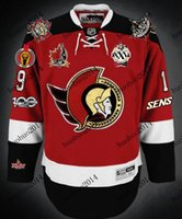 Wholesale Vintage Heritage - Ottawa Senators Jerseys 100th patch 2012 All Star Patch 25th Patch 2014 Heritage Classic KOHO Vintage Throwback Hockey Jerseys