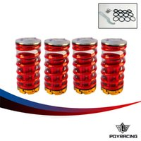 Wholesale Spring For Honda - PQY STORE- Forged Aluminum Coilover Kits for Honda Civic 88-00 Red available Coilover Suspension   Coilover Springs PQY-TH11