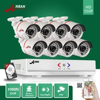 Wholesale play security - ANRAN Plug and Play 8CH hybrid HD AHD DVR 1800TVL 720P Waterproof Outdoor 24 IR Day Night Home CCTV Security Camera System With 1TB HHD