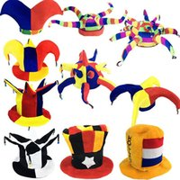 Wholesale Dance Costume Accessories Hat - Funny Clown Hat Masquerade Football Beer Caps Carnival Party Hats Kids Adults Stage Performance Dance Party Supplies
