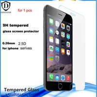 Wholesale Iphone 4s Retail - for iphone SE 4s 5s 0.26mm tempered glass protective screen protectors for iphone 6 6s 6 6s plus without retail box