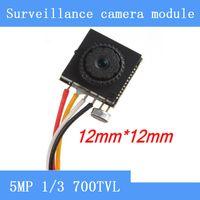 mini video kamera fpv toptan satış-İğne deliği kamera HD 5MP 700TVL renkli video mini cctv FPV kamera ile ses gözetim kameraları Modülü
