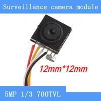Wholesale cctv color camera - Pinhole camera HD 5MP 700TVL color video mini cctv FPV camera with audio surveillance cameras Module