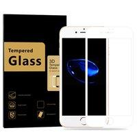 3d dokunmatik ekran toptan satış-IPhone 7 7 P Ekran Koruyucu için Temperli Cam Anti-Çizik Ultra Clear 3D Dokunmatik Uyumlu / 0.3mm Kalınlığı / 9 H Sertlik / Kabarcıksız Ekran