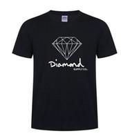 baumwoll-spandex-sport großhandel-Neue Sommer Baumwolle Herren T-shirts Mode kurzhülse Gedruckt Diamant Versorgung Co Männlichen Tops T-stücke Skate Marke Hip Hop Sport Kleidung
