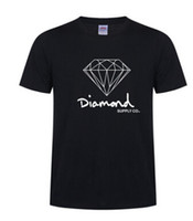 Wholesale sports t shirts purple online - New Summer Cotton Mens T Shirts Fashion Short sleeve Printed Diamond Supply Co Male Tops Tees Skate Brand Hip Hop Sport Clothes