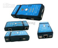 Wholesale 45 Usb Cable - 50pcs lot USB Cable Tester LAN Ethernet RJ-45 Cat-5 RJ-12 RJ-11 CABLE TEATER CAT5 RJ45 FREESHIPPING