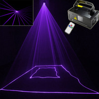 Wholesale Dmx Laser Purple - Wholesale-violet Purple laser Line scanner remote sound DJ dance bar Xmas Party Disco DMX lighting effect Light stage Lights Show B192