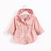 Wholesale Trench Coat Pink Korean - Kids Trench Coats Korean Girls Coats Children Trench Coat Girl Dress Kids Hoodies Children Clothes Kids Clothing