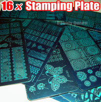 Wholesale nail polish images - NEWST 16pcs XL FULL Nail Stamping Stamp Plate Full Design Image Disc Stencil Transfer Polish Print Template 2016 NEW XYJ01 - XYJ16