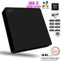 Wholesale I68 Wholesale - 5pcs i68 II 2GB 16GB Android 6.0 TV Box Amlogic S912 Octa Core Kdi 2.4G 5G DualWifi VP10 HDR10 i68ii