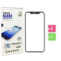 protector de pantalla de cristal templado de pulgadas al por mayor-Para iphone X XS PLUS XR 9H vidrio templado de 5,8 pulgadas, cubierta completa, protector de pantalla de teléfono móvil 3d con borde suave 7 8 más, también en stock