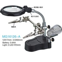 Wholesale Helping Hand with Magnifying Glass Lamp repair identification read function magnifying glass