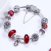 Wholesale String Bracelets 925 Silver - Jewelry wholesale Red herb 925 sterling silver bracelet String act the role ofing gift A set The finished chain With the packing