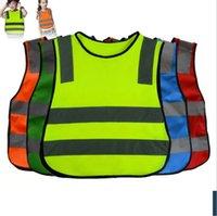 Wholesale Road Safety Vest - Kids High Visibility Woking Safety Vest Road Traffic Working Vest Green Reflective Safety Clothing For Children Safety Vest Jacket KKA3004