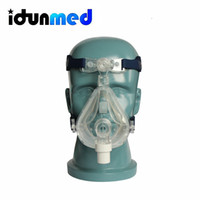 Wholesale Full Mask Respirator - idunmed FM5 Size M CPAP APAP BiPAP BPAP Full Face Ventilator Respirator Face Mask With Headgear Strap Harness For Sleep Apnea Antil Snoring