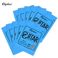 Wholesale G E Lights - Wholesale- Orphee RX-1 Single Guitar String for Electric Guitar 1st E  2nd B  3rd G-String (.009) 10-Pack Nickel Alloy Super Light Tension