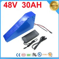 Wholesale Electric Kit 48v - Triangle style electric bike battery 48v 30ah ebike battery 48v BMS control ebike kit with battery li ion batterie lCharger For Samsung cell