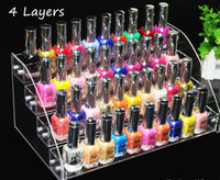 Wholesale types makeup tools - 4 Tiers Multifunction Makeup Cosmetic Display Stand Clear Acrylic Organizer Mac Lipstick Jewelry Display Holder Lipstick Nail Polish Rack