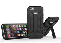 Caso Heavy Duty Defender futuro armatura ibrida militare con slot per schede cavalletto per iPhone 6 6S PLUS 5S SE caso stand