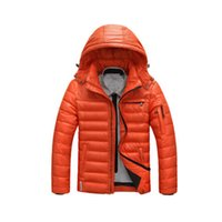 Wholesale Warm Men s Down Jackets Slight Waterproof Casual Outerwear Snow Coats Thick Hooded Winter Duck Down Jacket For Man XL