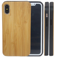 Wholesale Iphone Handmade Hard Case - Real Wood Handmade For Iphone X 8 iphone 7 6 6s Plus Wooden with Soft TPU Phone Cover Hard Back Cases For Samsung Galaxy S8 S8 Plus