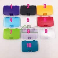 Wholesale Replacement Game Cases - Colorful Plastic Battery Cover Replacement for Game Boy Color Game Console High Quality Replacement Parts for GBC Battery Cases