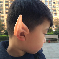 Wholesale Larp Elf Costume - New Pixie Elf Ears Latex Party Ear Fairy costume Cosplay fox Accessories LARP Halloween Party Latex Soft Pointed Prosthetic Tips Ear