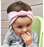 Wholesale black headscarf headband for sale - Group buy Fashion Children Hair band lovely baby Elastic headband cotton knot head Hair Accessories Elastic infant hair decorations Charm headscarf