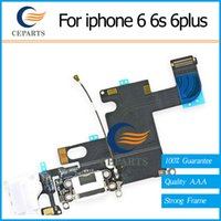 Wholesale Iphone Flex Connector - Charger Port for iPhone 6 6s 6 Plus 6s Plus USB Dock Connector Charging Port Flex Cable Ribbon Replacement 100% New Free Shipping