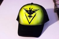 Pokemon Go Hüte Günstige Taschen-Monster-Hysteresen-Kappen-Team Valor-Team Mystic-Team Instinct justierbare Hüte Fashion Sports Caps Hottest Snapbacks