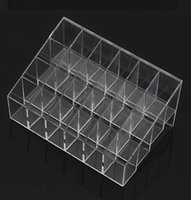 Wholesale Clear Makeup Case Organizer - Wholesale-Fress shipping Clear Acrylic 24 Lipstick Useful Holder Display Stand Cosmetic Organizer Makeup Case Hot Sell