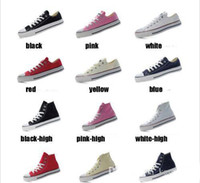 Wholesale big top promotions - 2018 Promotion New 16 Colors High Low Top Style sports stars Classic Canvas Shoe Sneakers Big Kids Boys and girls Casual Shoes