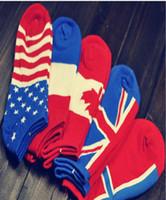 chaussettes drapeau national achat en gros de-Hommes Chaussettes Sports Coton Bouche Peu Profonde Drapeau National Chaussettes Mode Nouveau Chaussettes De La Cheville Low Cut Crew Casual Sport Couleur Coton Anklet
