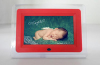 Wholesale Photo Flash Player - 7 inch LCD Digital Photo Frame LED flash light With MP3 MP4 Player special gift for French customer