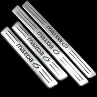 Wholesale Door Sill Scuff - 2012 Mazda 6 Stainless Steel Door Sill Scuff Plate Threshold Strip Welcome Pedal for 2009 2010 2011 2012 mazda 6 Car Accessories